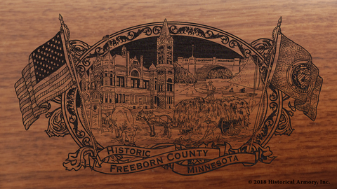 Freeborn County Minnesota Engraved Rifle