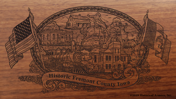 Fremont County Iowa Engraved Rifle