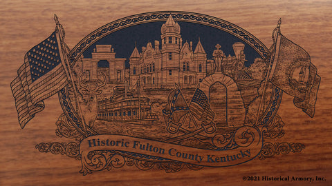 Fulton County Kentucky Engraved Rifle Buttstock