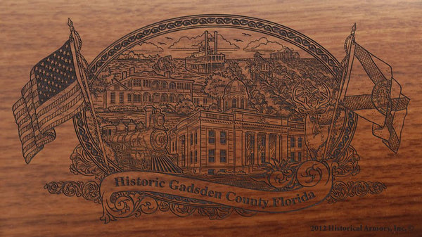 Gadsden County Florida Engraved Rifle