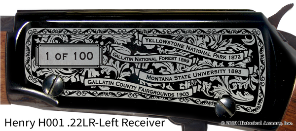 Gallatin County Montana Engraved Rifle