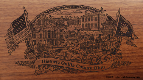 Gallia County Ohio Engraved Rifle