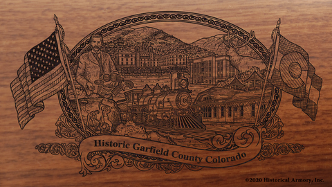 Garfield County Colorado Engraved Rifle