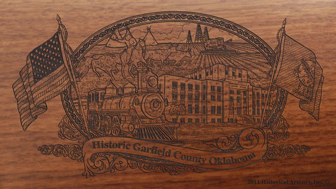 garfield county oklahoma engraved rifle buttstock