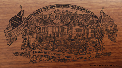 Garrard County Kentucky Engraved Rifle