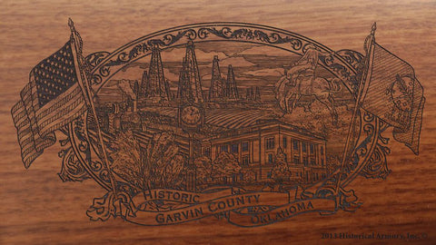 garvin county oklahoma engraved rifle buttstock