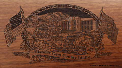 Gem County Idaho Engraved Rifle