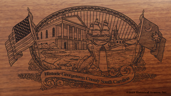 Georgetown County South Carolina Engraved Rifle