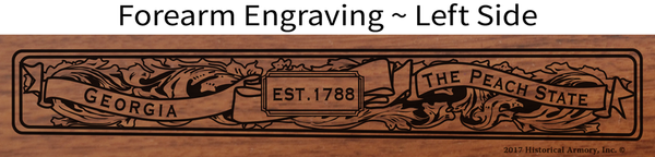 Muscogee County Georgia Engraved Rifle
