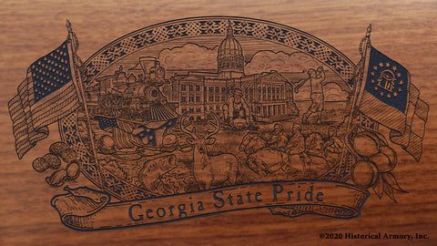 georgia state engraved rifle buttstock