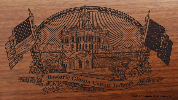 Gibson County Indiana Engraved Rifle
