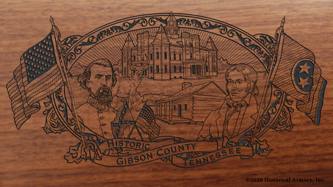 Gibson County Tennessee Engraved Rifle
