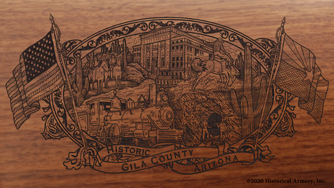 Gila County Arizona Engraved Rifle