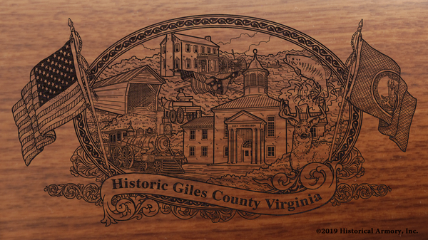 Giles County Virginia Engraved Rifle