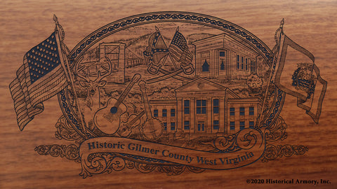 Gilmer County West Virginia Engraved Rifle Buttstock