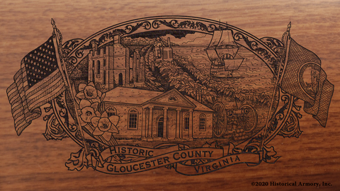 Gloucester County Virginia Engraved Rifle