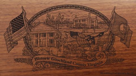 Goochland County Virginia Engraved Rifle