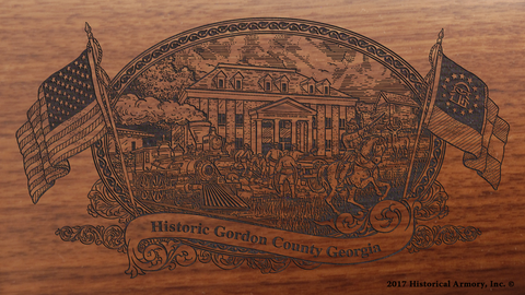 Gordon County Georgia Engraved Rifle