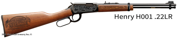 Goshen County Wyoming Engraved Rifle