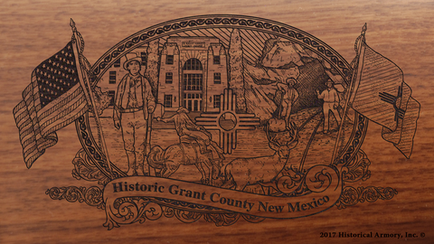 Grant County New Mexico Engraved Rifle
