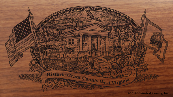 Grant County West Virginia Engraved Rifle