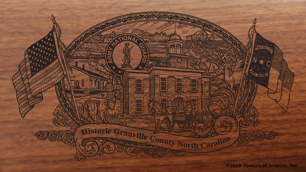 Granville County North Carolina Engraved Rifle