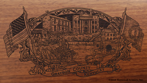 Grayson County Kentucky Engraved Rifle
