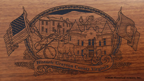 Grayson County Virginia Engraved Rifle Buttstock