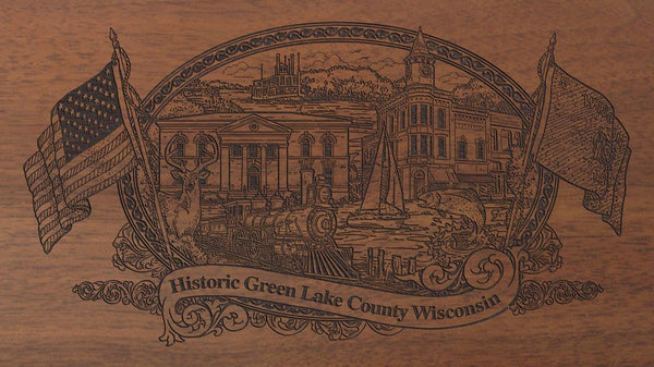 green lake county wisconsin engraved rifle buttstock