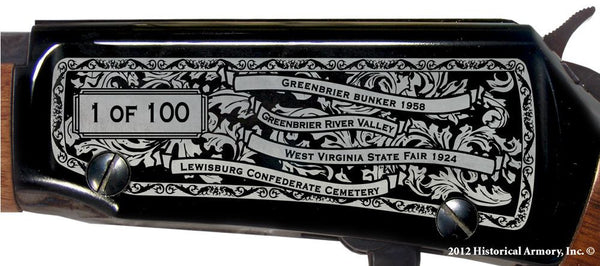 greenbrier county west virginia engraved rifle h001 receiver