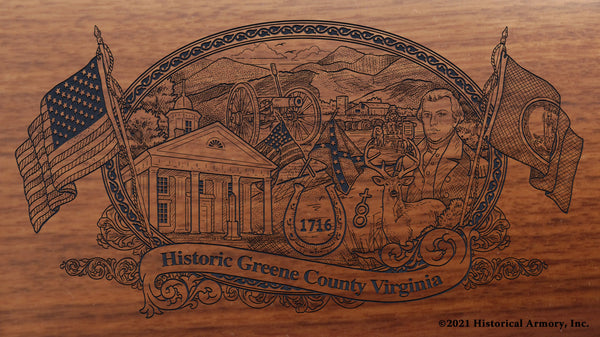 greene county virginia engraved rifle buttstock
