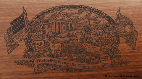 Greensville County Virginia Engraved Rifle