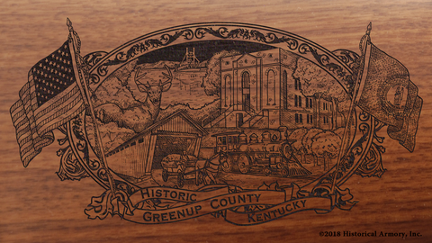 Greenup County Kentucky Engraved Rifle