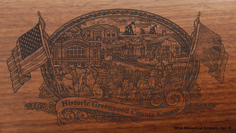 Greenwood County Kansas Engraved Rifle