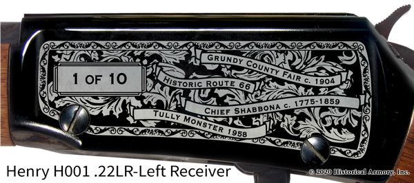 Grundy County Illinois Engraved Rifle