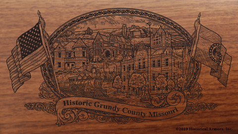 Grundy County Missouri Engraved Rifle