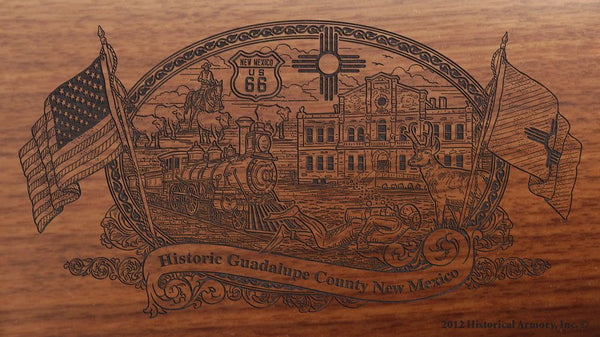 guadalupe county new mexico engraved rifle buttstock