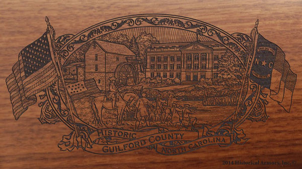 guilford county north carolina engraved rifle buttstock