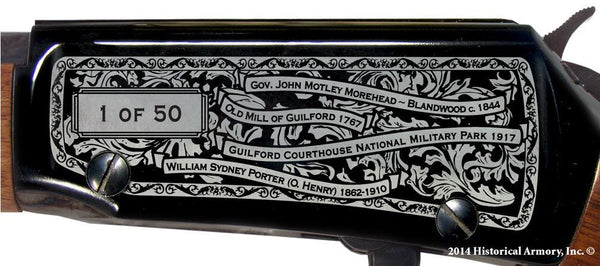 guilford county north carolina engraved rifle h001 receiver