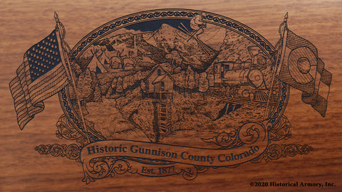 Gunnison County Colorado Engraved Rifle