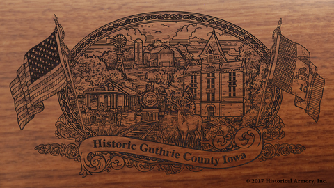 Guthrie County Iowa Engraved Rifle