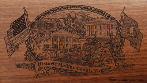 Halifax County Virginia Engraved Rifle