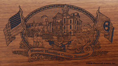 Hamblen County Tennessee Engraved Rifle Buttstock