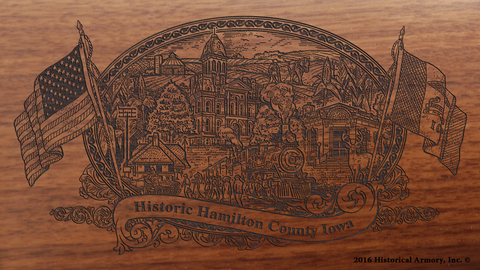 Hamilton County Iowa Engraved Rifle