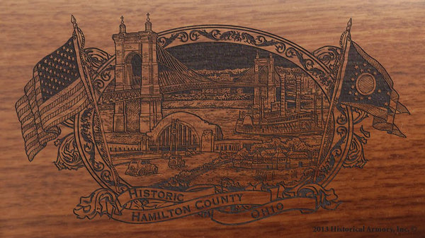 hamilton county ohio engraved rifle buttstock
