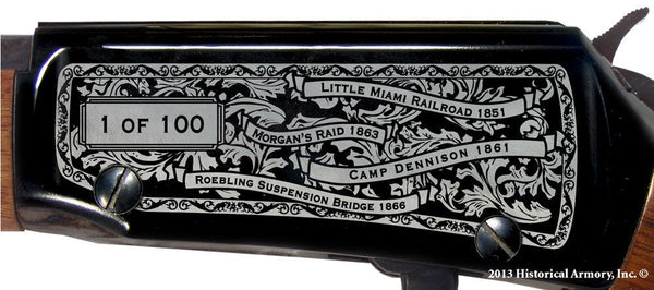 hamilton county ohio engraved rifle h001 receiver