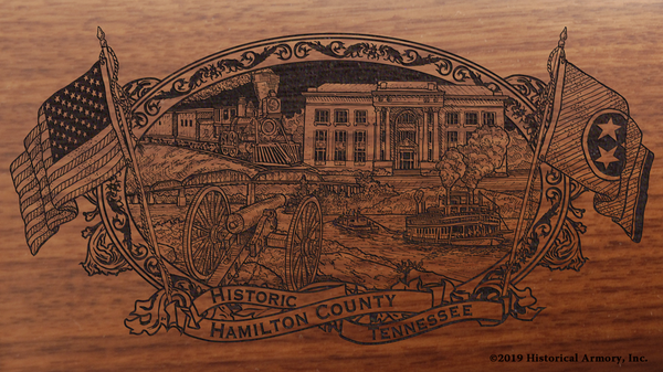 Hamilton County Tennessee Engraved Rifle