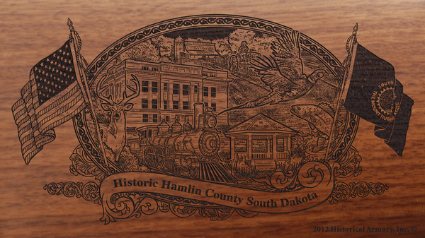 Hamlin County South Dakota Engraved Rifle