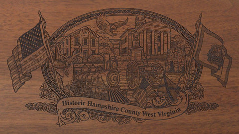 hampshire county west virginia engraved rifle buttstock