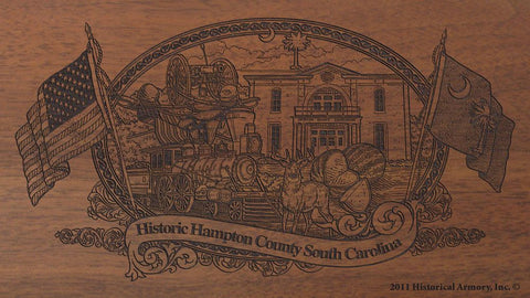 hampton county south carolina engraved rifle buttstock